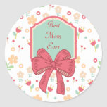 Happy Mother's Day Floral Design Sticker