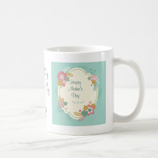 Happy Mother's Day Floral Frame Coffee Mug