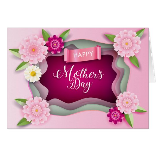 Happy Mothers Day Floral Gift Card Zazzlecom