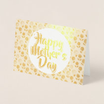 Happy Mother's Day Floral Gold Foil Greeting Card
