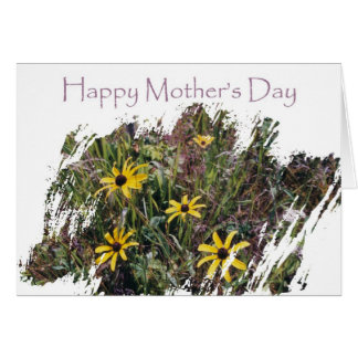 Happy Mother's Day Flower Field for Mom Greeting Card