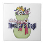 Happy Mother's Day Flowers 2 Ceramic Tile