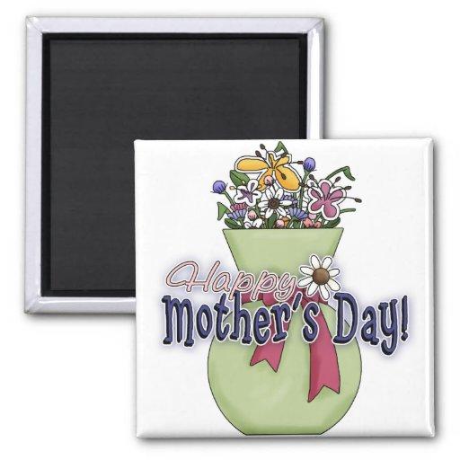 Happy Mother's Day Flowers 2 Fridge Magnet