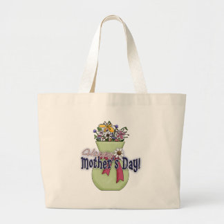 Happy Mother's Day Flowers 2 Large Tote Bag