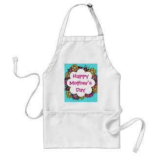 Happy Mother's Day Flowers Adult Apron