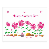 Happy Mother's day Flowers Daisies Pink Postcard