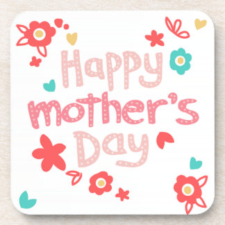 Happy Mother's Day Flowers Drink Coasters