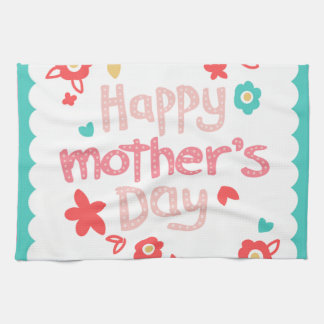 Happy Mother's Day Flowers Kitchen Towel