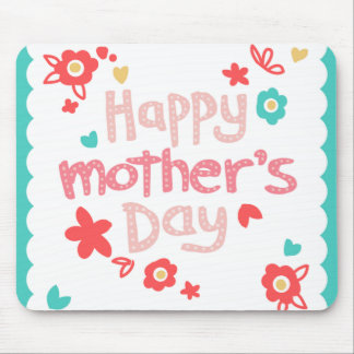 Happy Mother's Day Flowers Mouse Pad