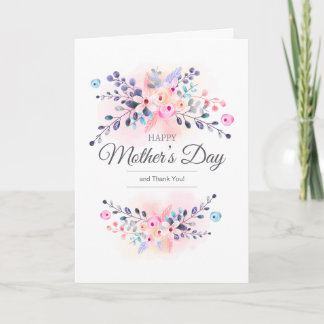 Happy Mother's Day Flowers Photo Card