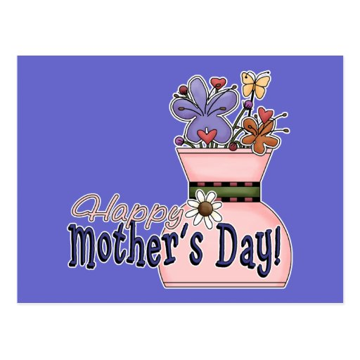Happy Mother's Day Flowers Postcards