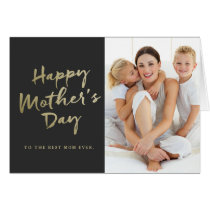 Happy Mother's Day Folded Photo Card | Black