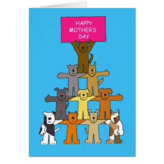 Happy Mother's Day for dog lovers. Greeting Card
