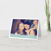 Happy Mothers Day for Grandmother Photo Blue White Card