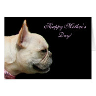 Happy Mother's Day French Bulldog notecard Card
