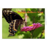 Happy Mother's Day, Friend, butterfly on flower Card