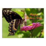 Happy Mother's Day, Friend, butterfly on flower Greeting Card