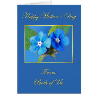 Happy Mother's Day from Both of Us Blue Alkanet Card