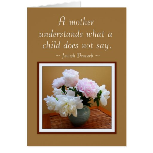 Happy Mother's Day From Son Peonies Card