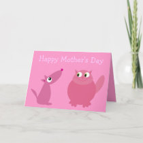 Happy Mother's Day Fur Kid Mom Card