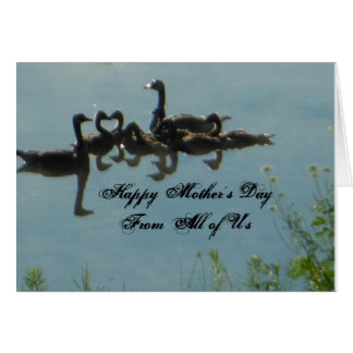 Happy Mother's Day Geese Heart Shape Card