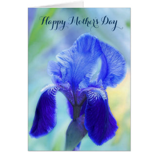 Happy Mother's Day / General / Painted Blue Iris Card