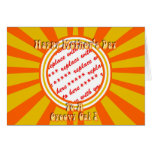 Happy Mother's Day - Gold/Orange Retro Photo Frame Greeting Card