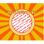 Happy Mother's Day - Gold/Orange Retro Photo Frame Cut Out