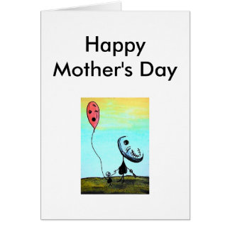 Happy Mother's Day Greeting Card Blackheart Emo