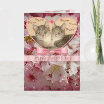 Happy Mother's Day Greeting Card with  Two Cats