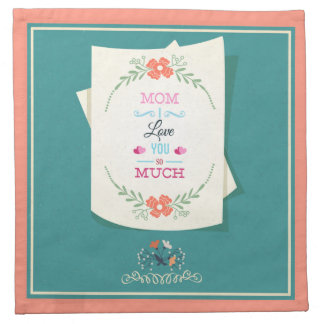 Happy Mother's Day Greeting Cloth Napkin