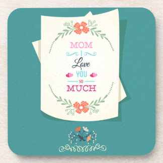 Happy Mother's Day Greeting Coasters