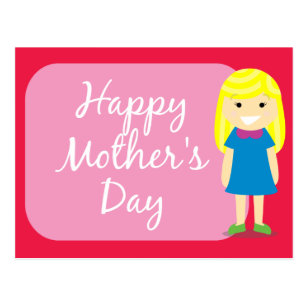 Happy mothers day to my daughter cards zazzle happy mothers day greeting from a daughter postcard m4hsunfo