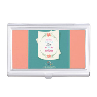 Happy Mother's Day Greeting Business Card Holders