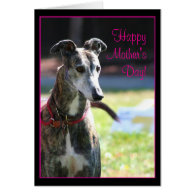 Happy Mother's Day Greyhound greeting card