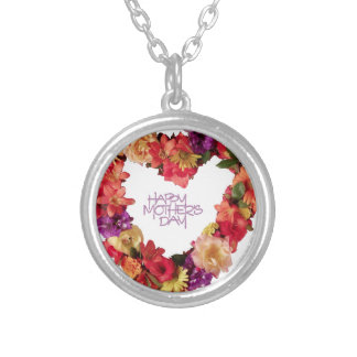 Happy Mothers Day , Hapy Mother's Day May 12th Silver Plated Necklace