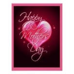 HAPPY MOTHER'S DAY HEART/border by SHARON SHARPE Poster