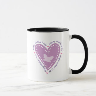 Happy Mothers Day Heart & Butterfly Mug