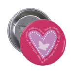 Happy Mothers Day Heart & Butterfly Pin