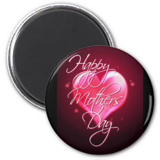 HAPPY MOTHER'S DAY HEART by SHARON SHARPE 2 Inch Round Magnet