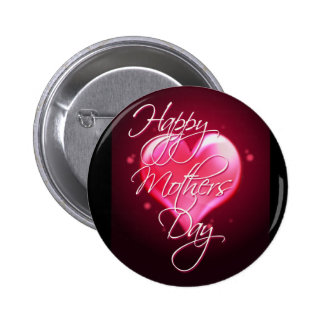 HAPPY MOTHER'S DAY HEART by SHARON SHARPE Button