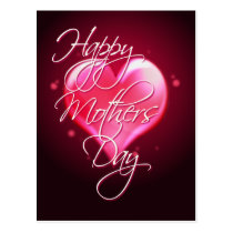 HAPPY MOTHER'S DAY HEART by SHARON SHARPE Postcard