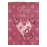 Happy Mother's Day - Heart Design Card