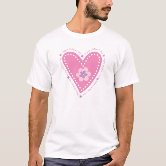 Happy Mother's Day Heart & Flowers T-Shirt
