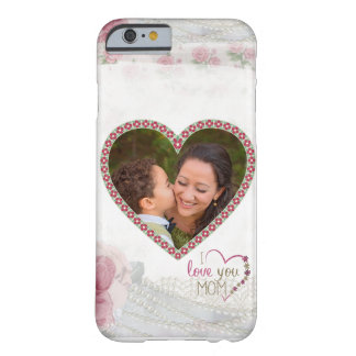 Happy Mother's Day Heart Personalized Barely There iPhone 6 Case
