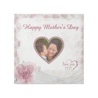 Happy Mother's Day Heart Personalized Gallery Wrap