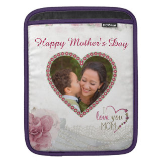 Happy Mother's Day Heart Personalized iPad Sleeve