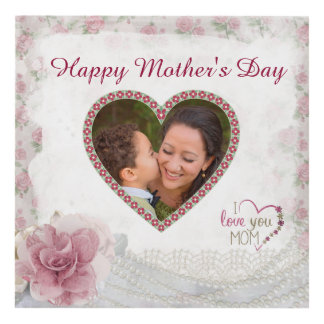 Happy Mother's Day Heart Personalized Panel Wall Art