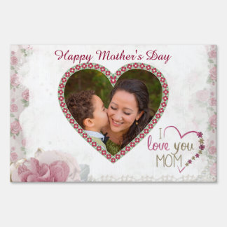 Happy Mother's Day Heart Personalized Sign