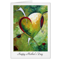 "Happy Mother's Day ""Heartfelt"" MADART Design Card"